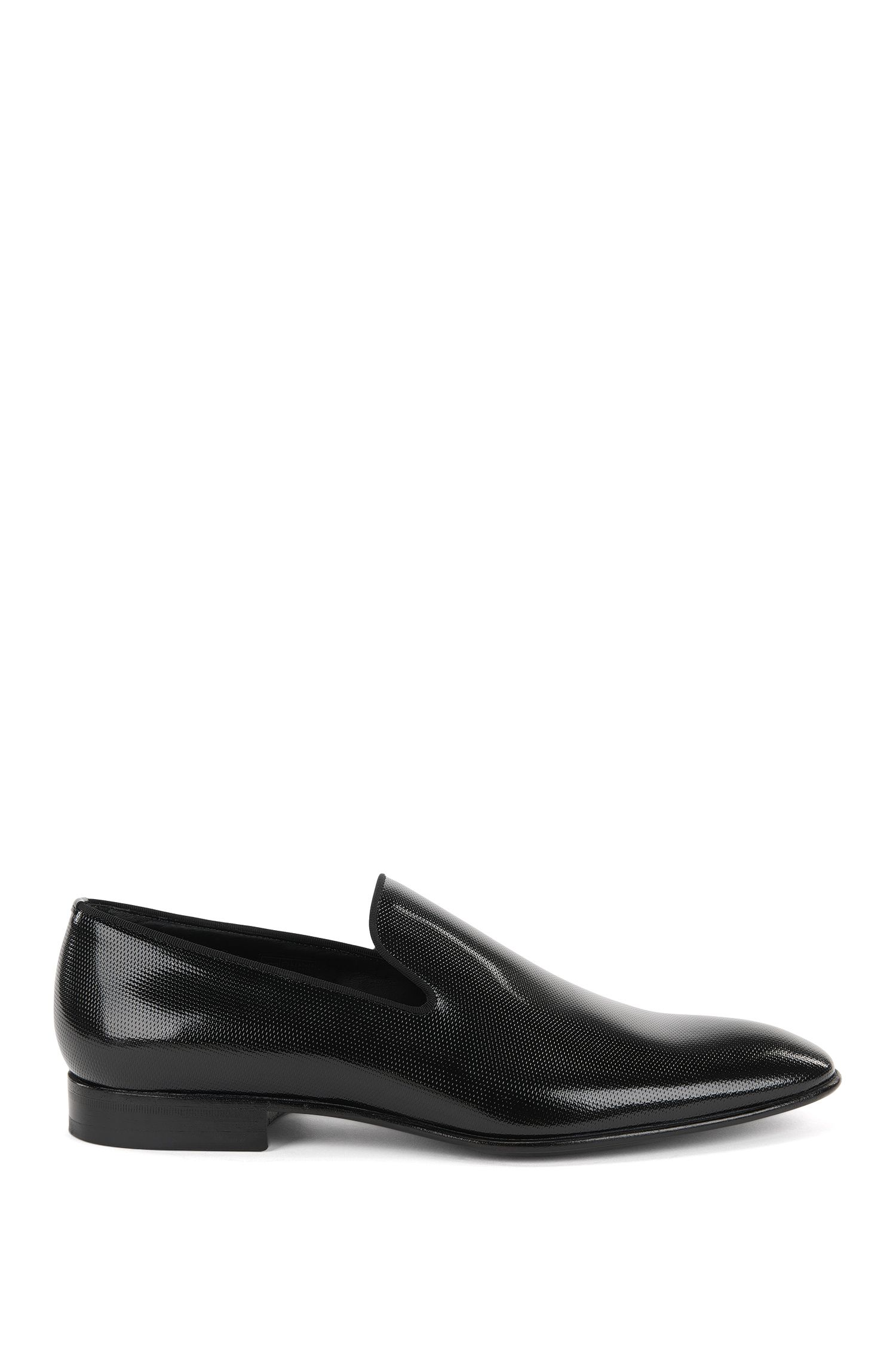 Printed Patent Leather Slip-On Loafers | Evening Slon Papr