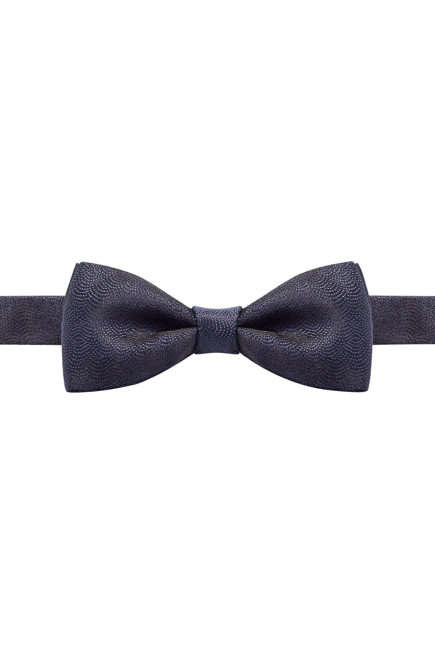 Scallop-Print Italian Silk Bow Tie