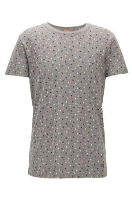 Cuban Flag-Print Cotton Graphic T-Shirt   Teacher, Light Grey
