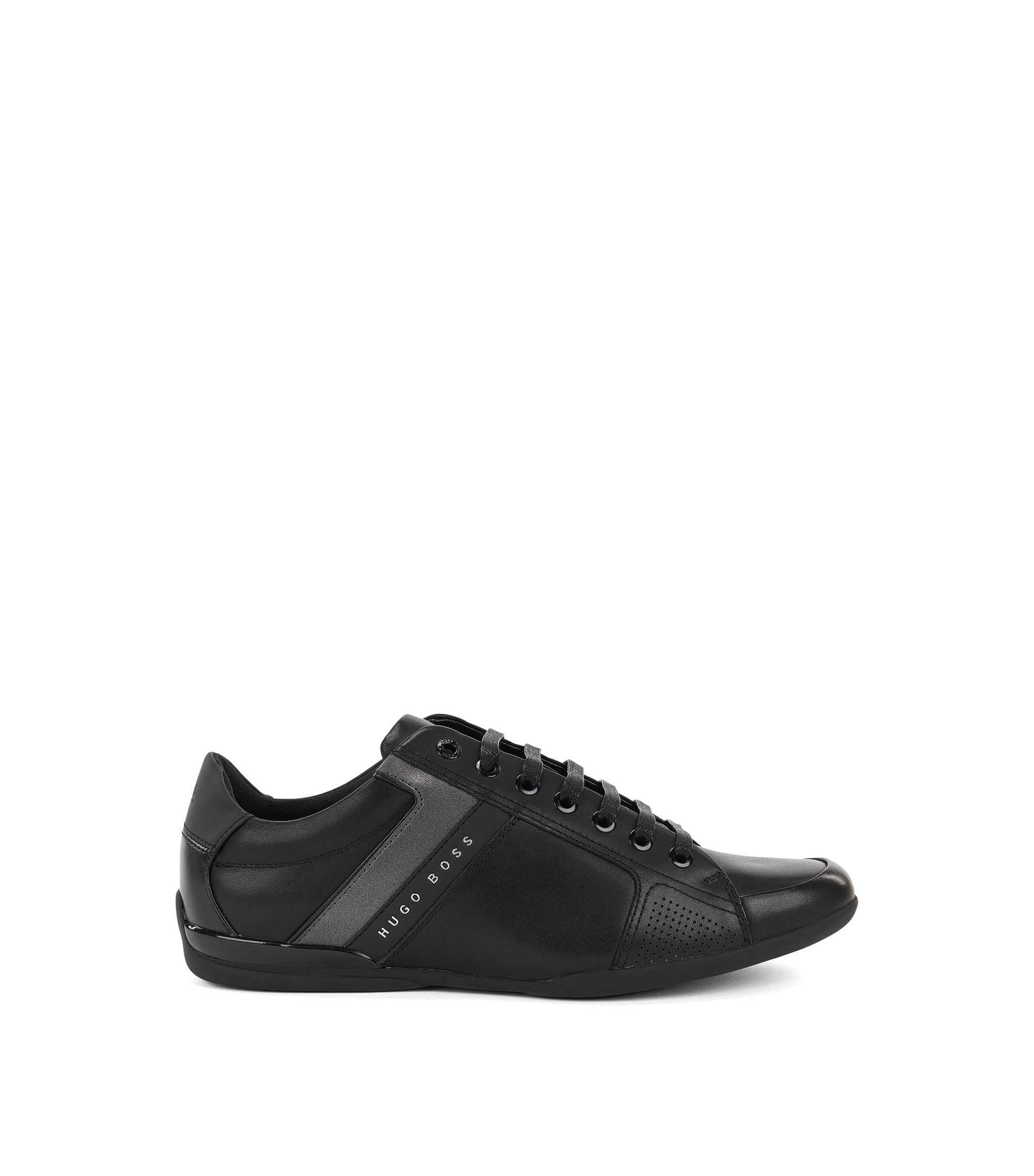 Leather Sneaker | Space Lowp Lux, Black