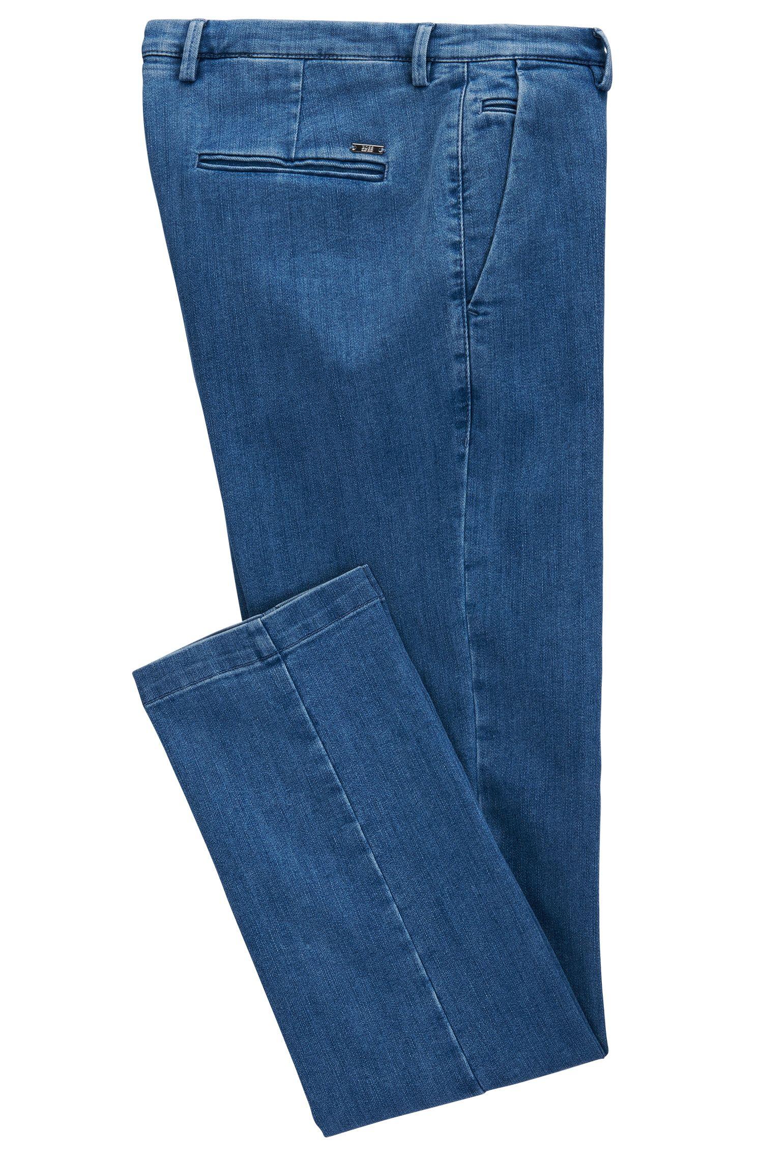 Italian Cotton Blend Denim Pant, Slim Fit | Rice W, Light Blue