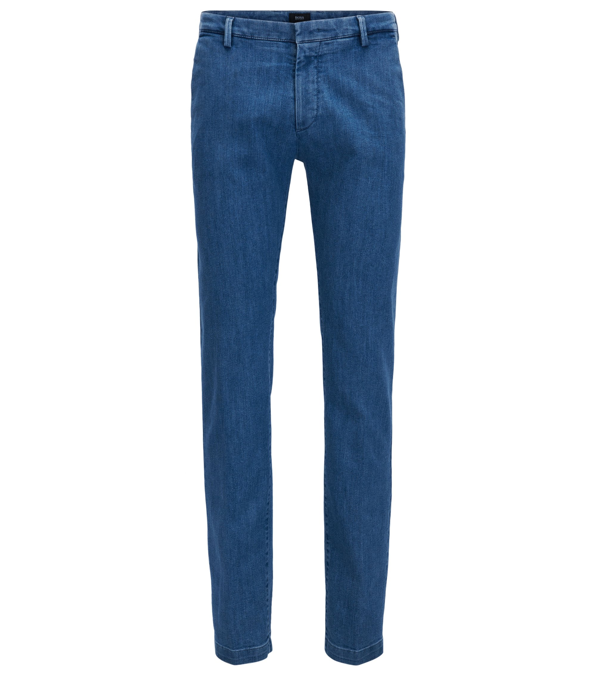 Italian Cotton Blend Denim Pant, Slim Fit | Rice W, Light Blue
