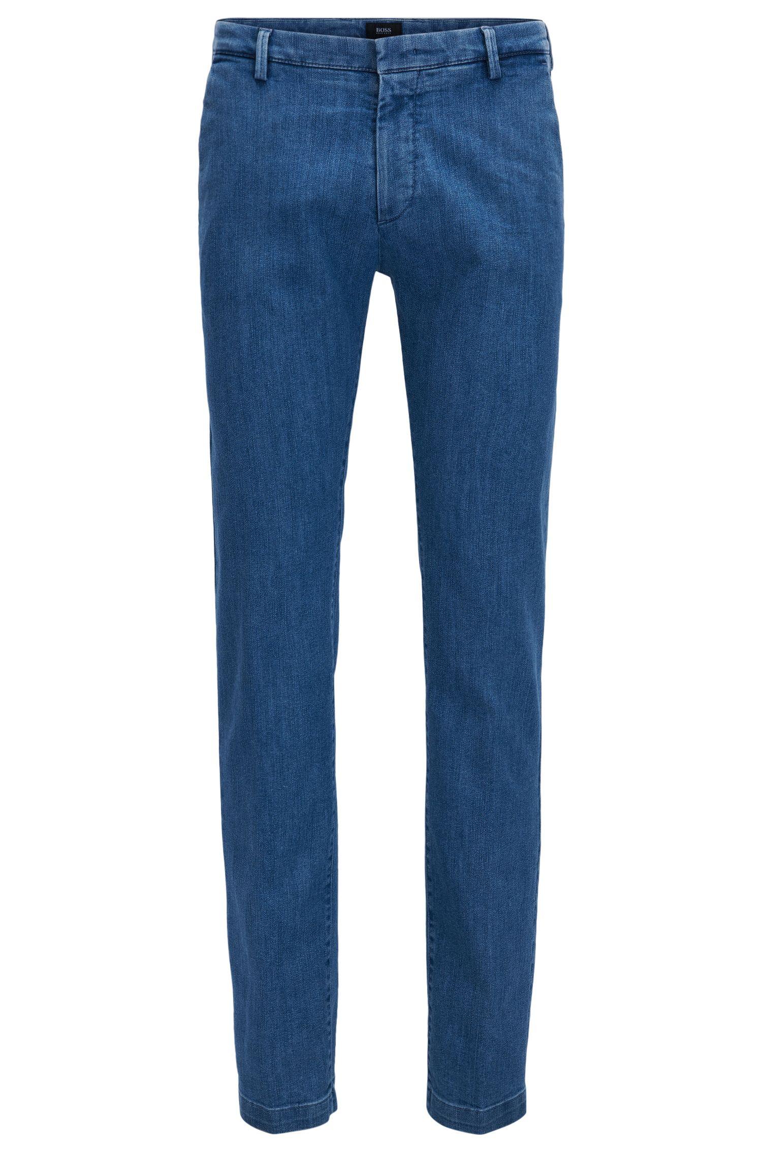 Italian Cotton Blend Denim Pant, Slim Fit | Rice W