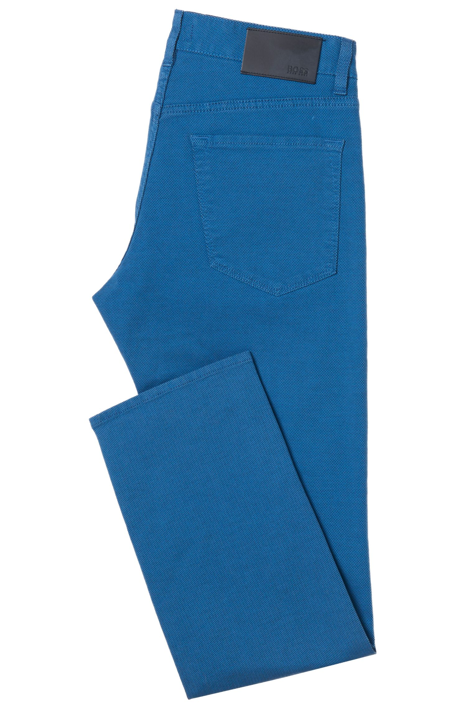 Stretch Cotton Pant, Regular Fit | Maine, Blue