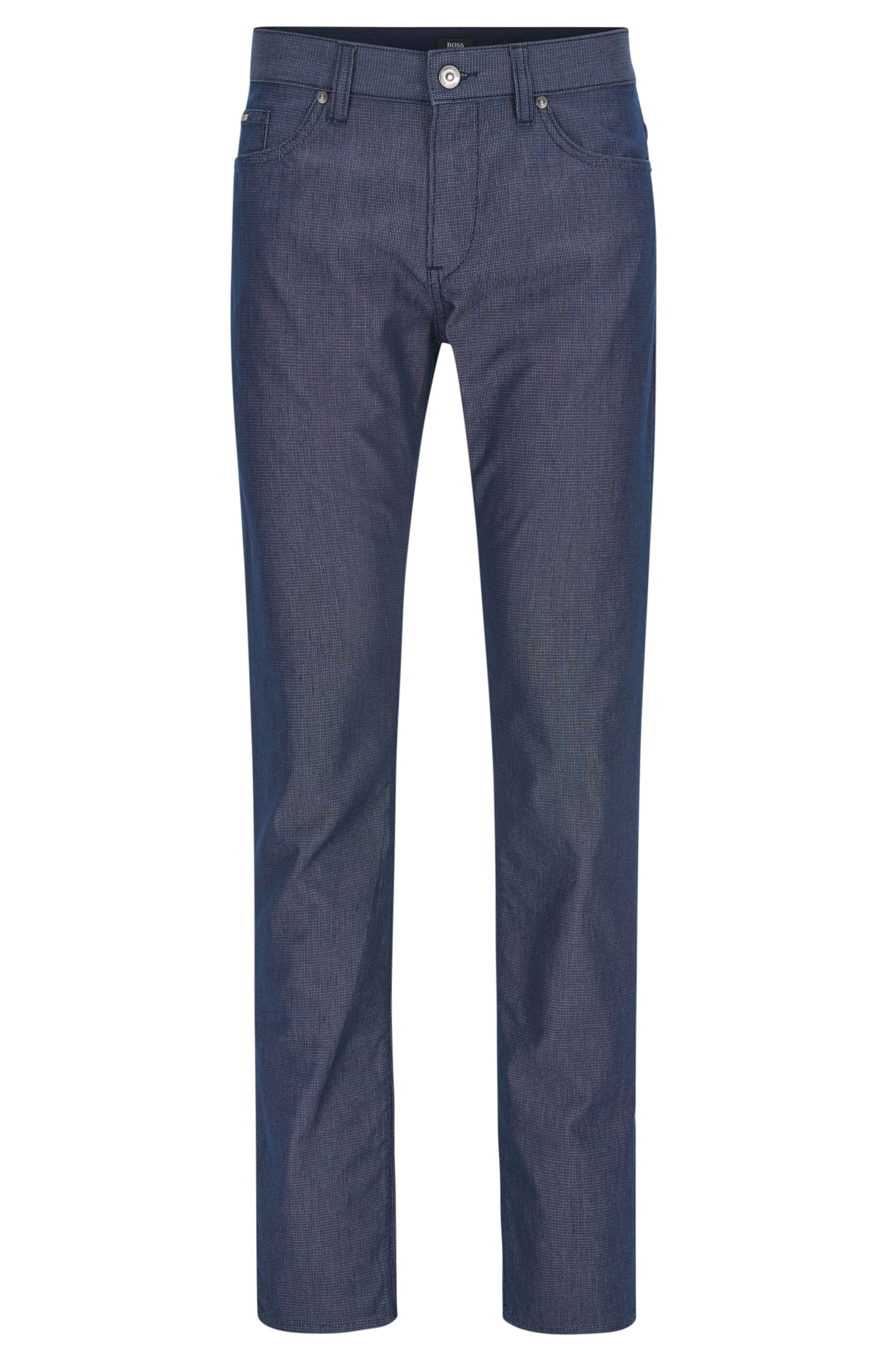 Basketweave Stretch Cotton Pant, Slim Fit | Delaware