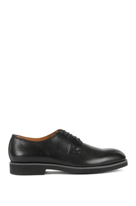 85ca1c80599 BOSS - Grained Leather Derby Shoe