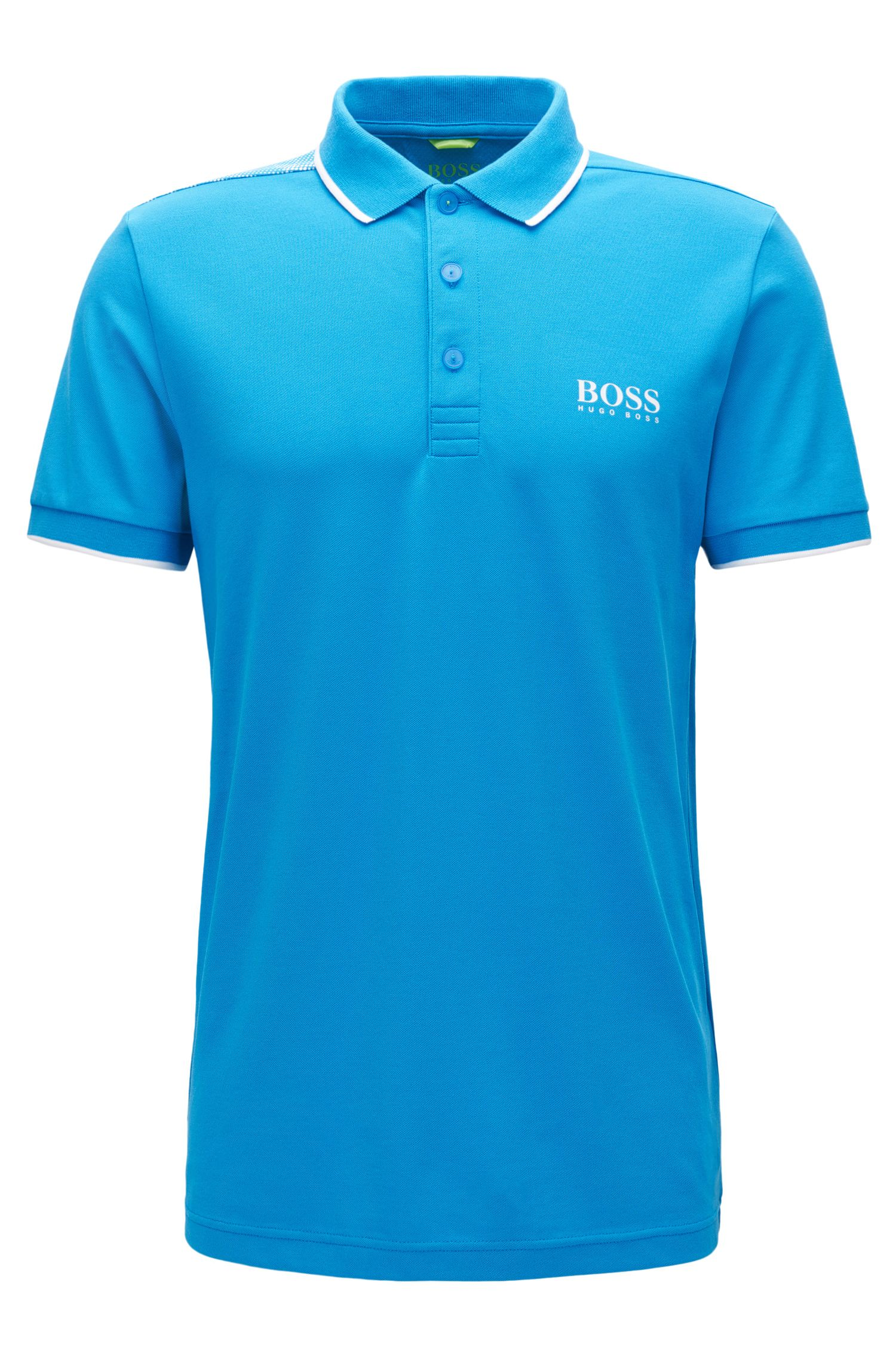Tipped Cotton Blend  Polo Shirt, Slim Fit | Paul Pro