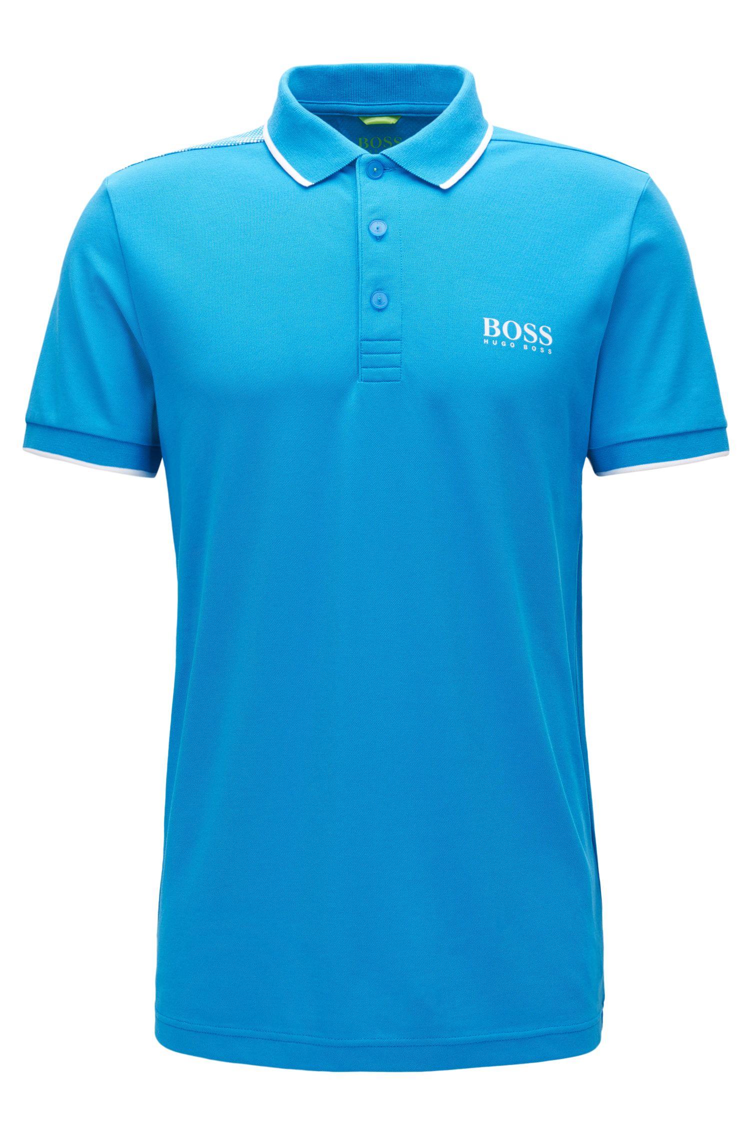 Tipped Cotton Blend  Polo Shirt, Slim Fit   Paul Pro