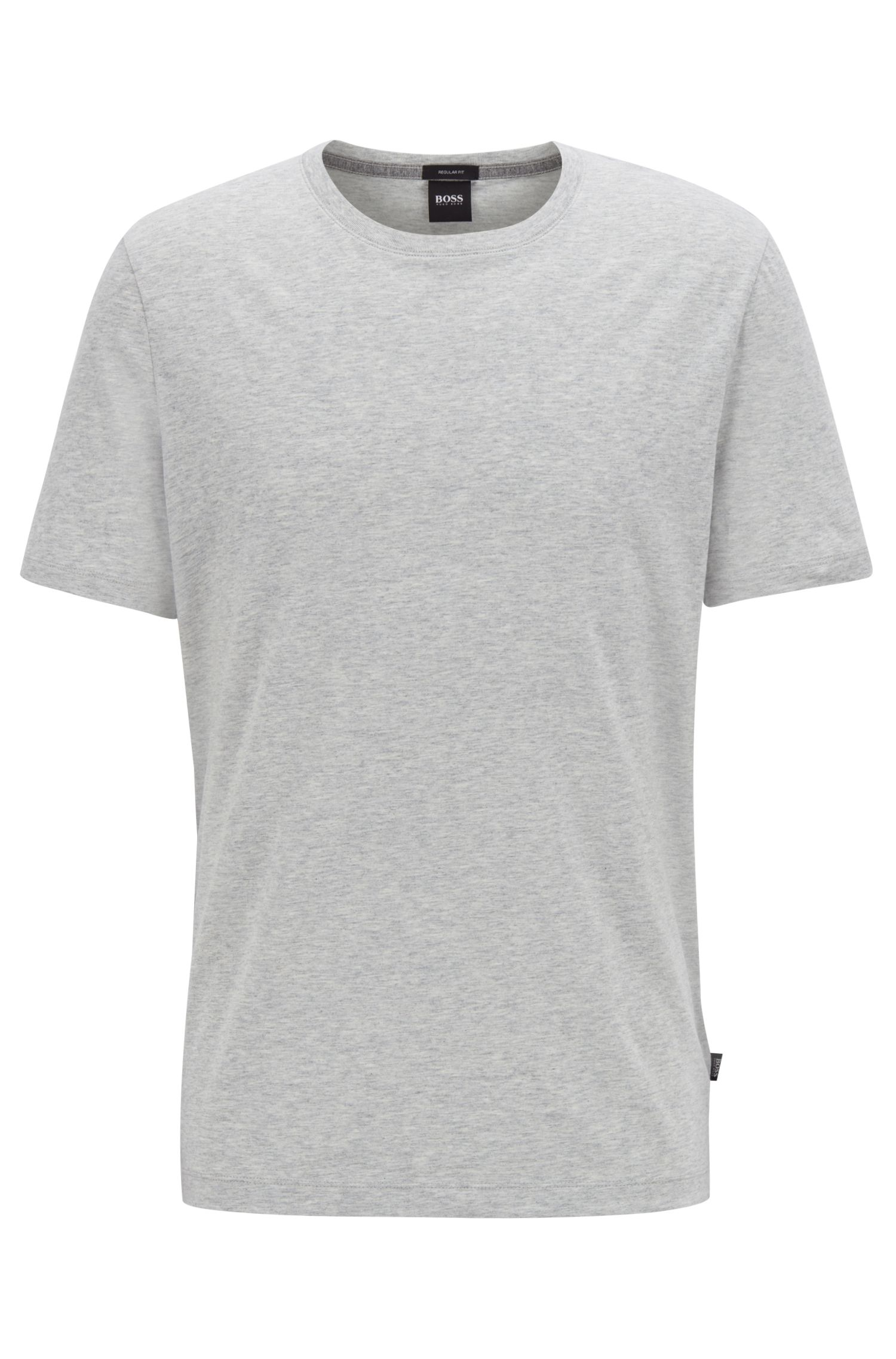 Regular-fit T-shirt in soft cotton, Open Grey