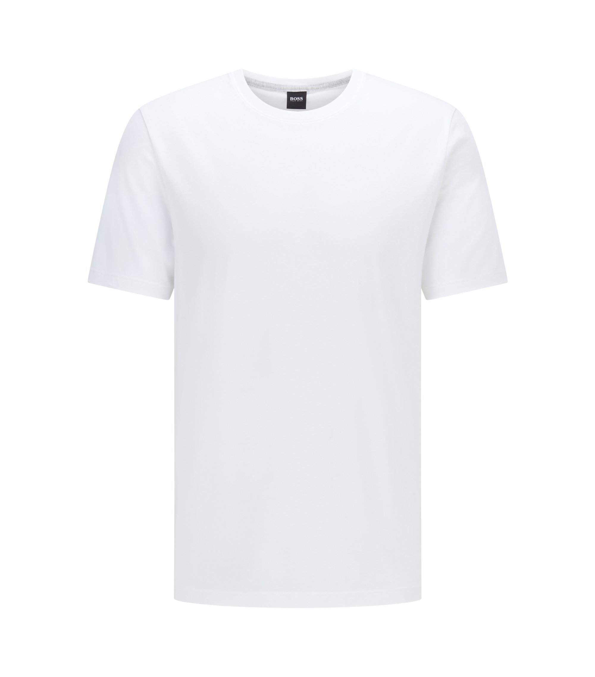 Regular-fit T-shirt in soft cotton, White