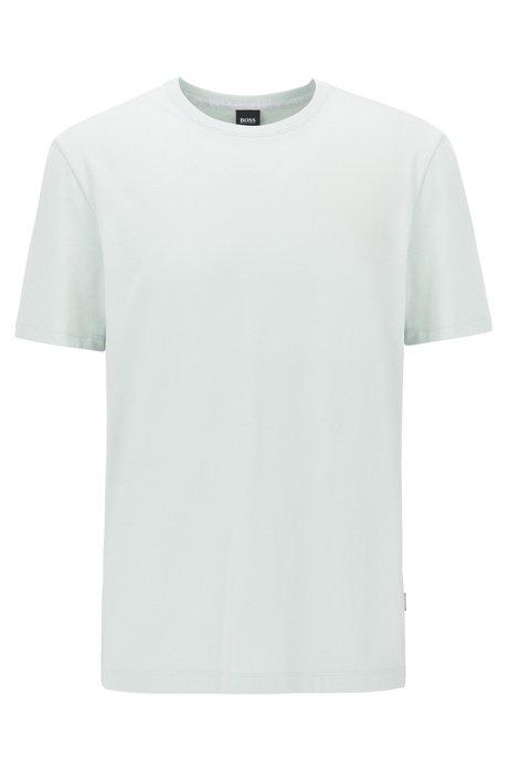 Regular-fit T-shirt in soft cotton, Light Green
