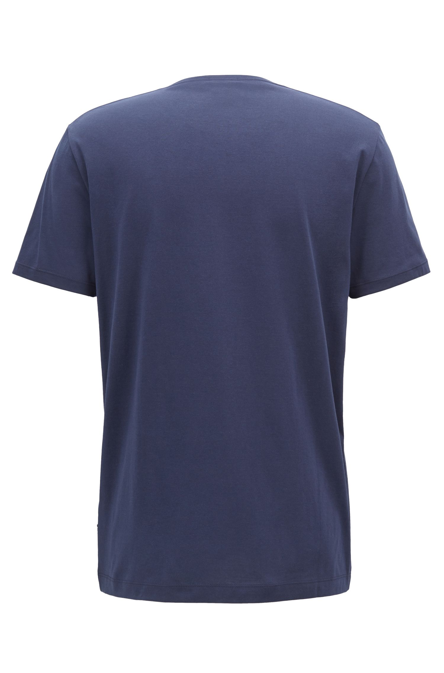 Regular-fit T-shirt in soft cotton, Dark Blue