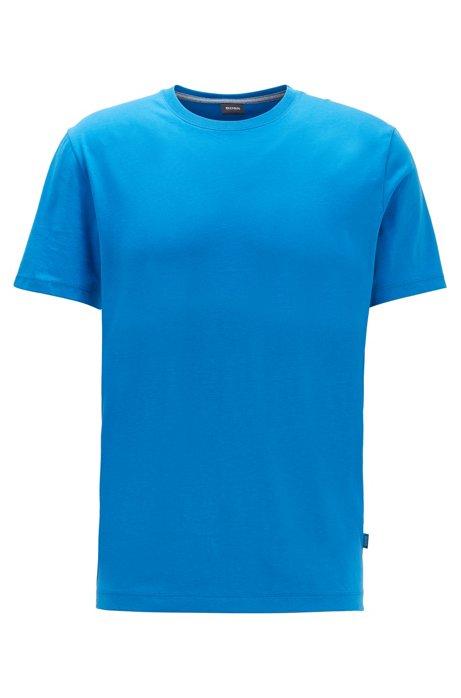 Regular-fit T-shirt in soft cotton, Blue