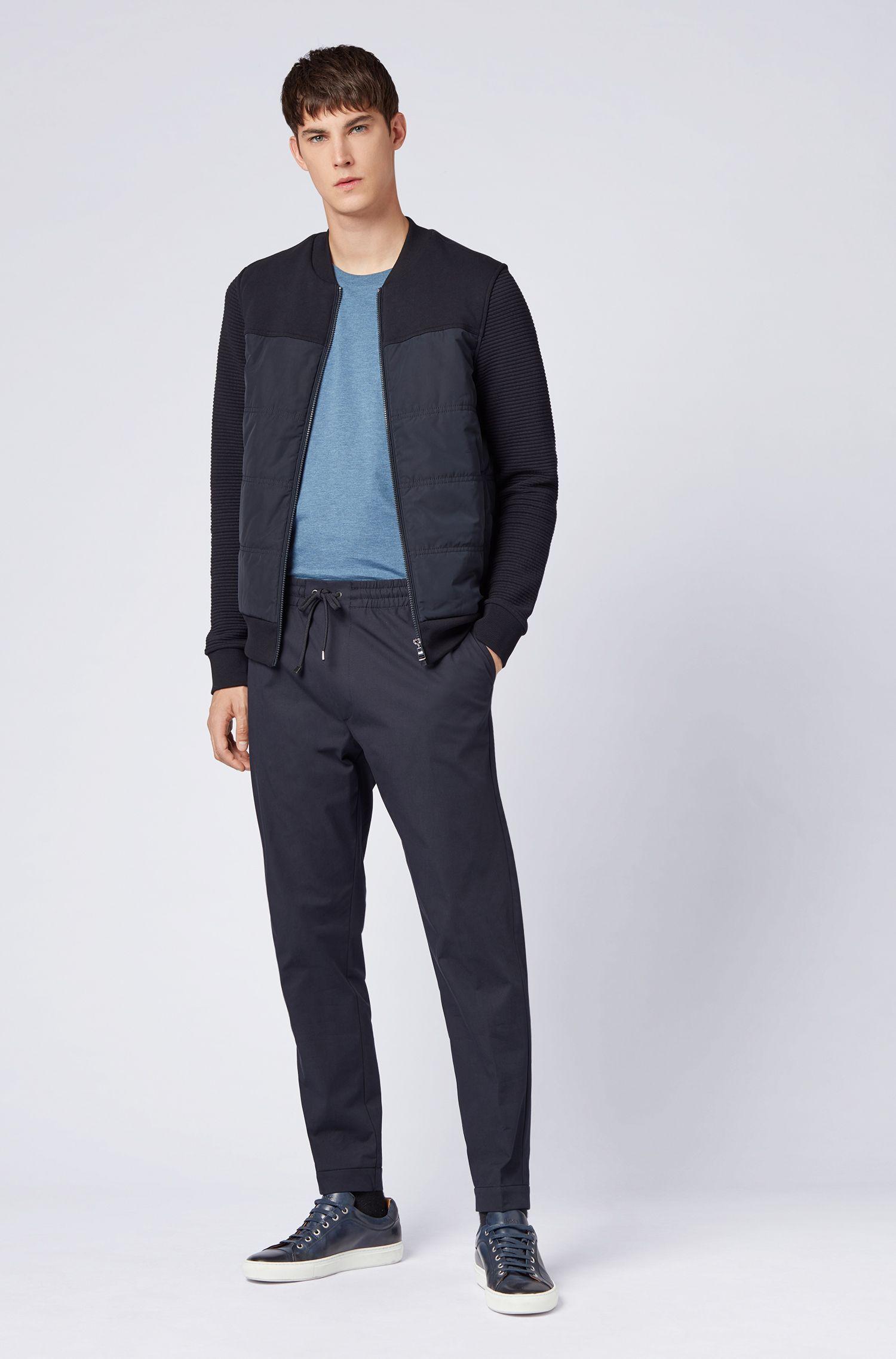 Regular-fit T-shirt in soft cotton, Open Blue
