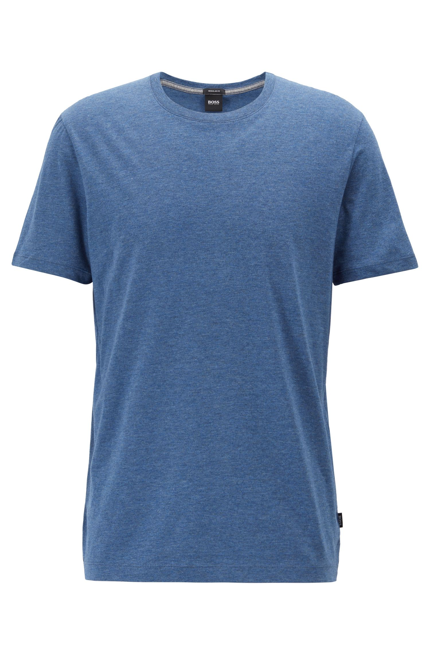 Regular-fit T-shirt in soft cotton, Open Blue