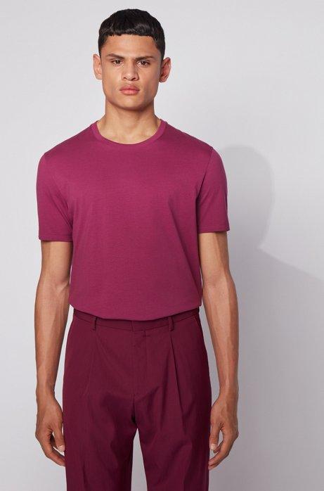 Regular-fit T-shirt in soft cotton, Purple