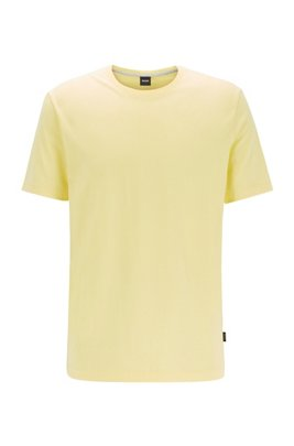 Regular-fit T-shirt in soft cotton, Yellow