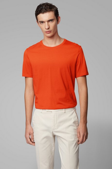 Regular-fit T-shirt in soft cotton, Orange
