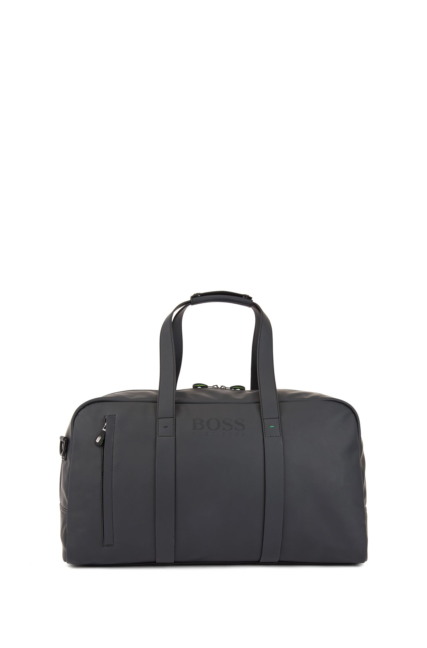 Holdall in rubberized technical fabric, Black
