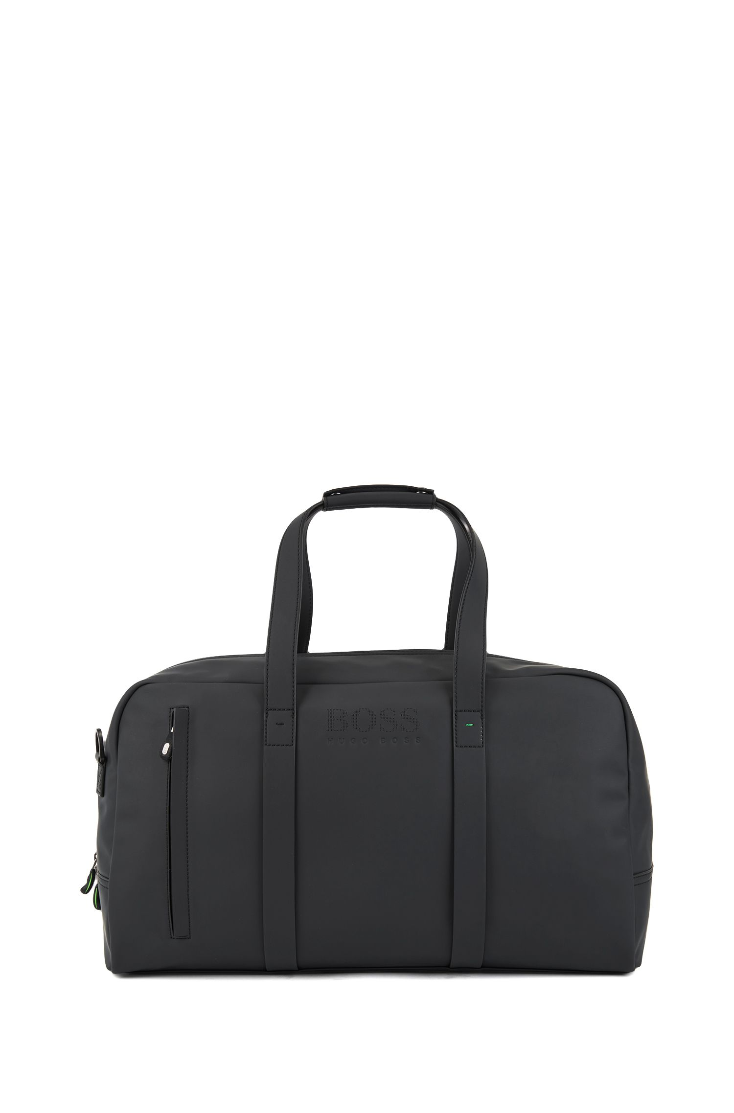 Holdall in rubberized technical fabric