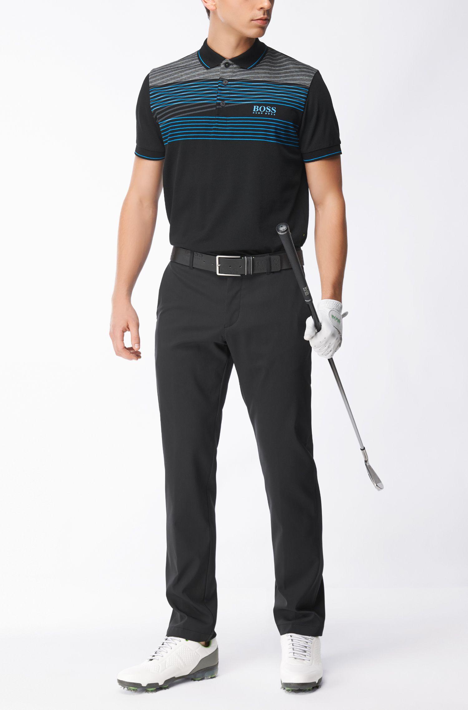 Cotton Blend Polo Shirt, Regular Fit  | Paddy Pro, Black