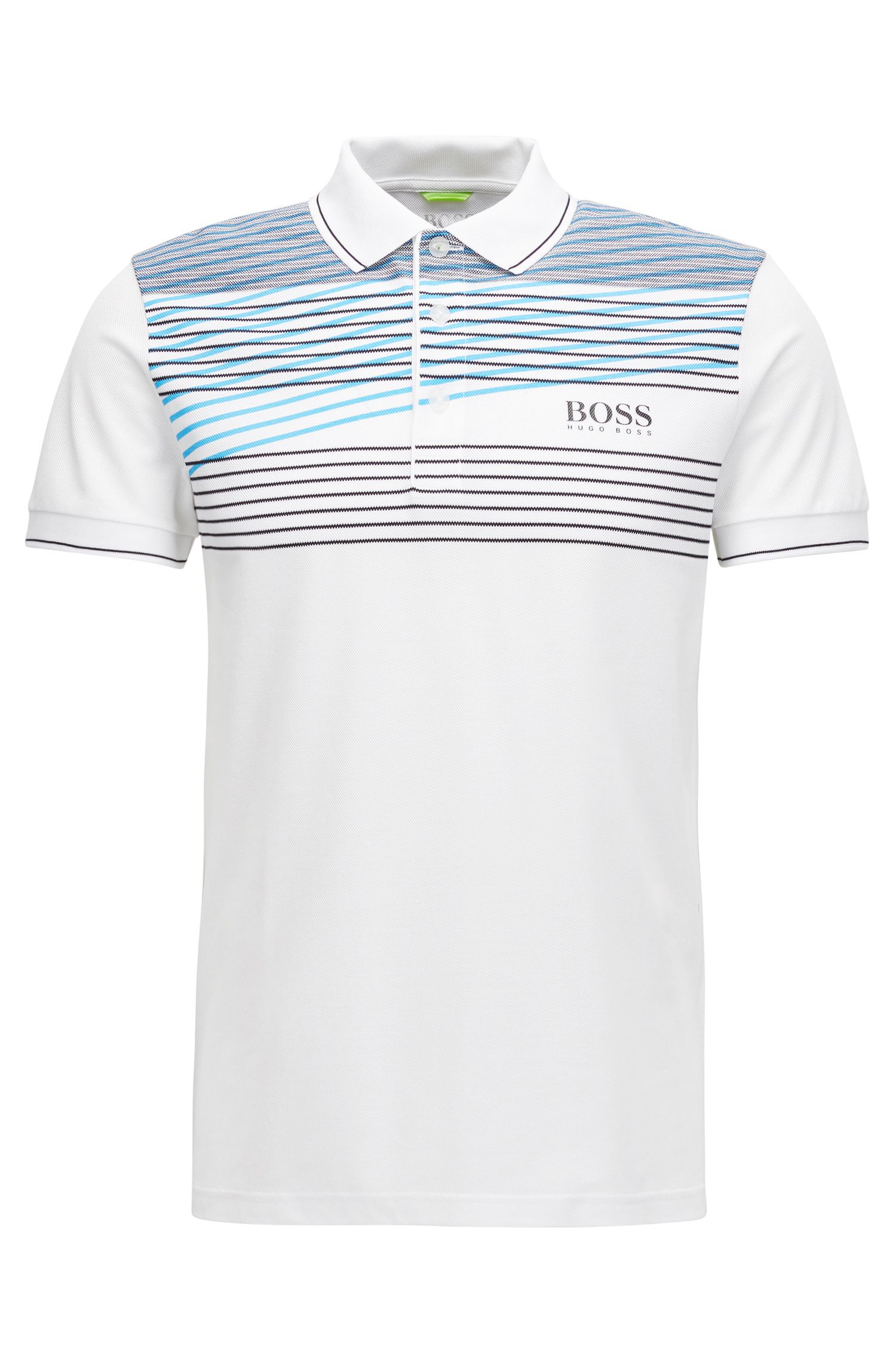 Cotton Blend Polo Shirt, Slim Fit  | Paddy Pro