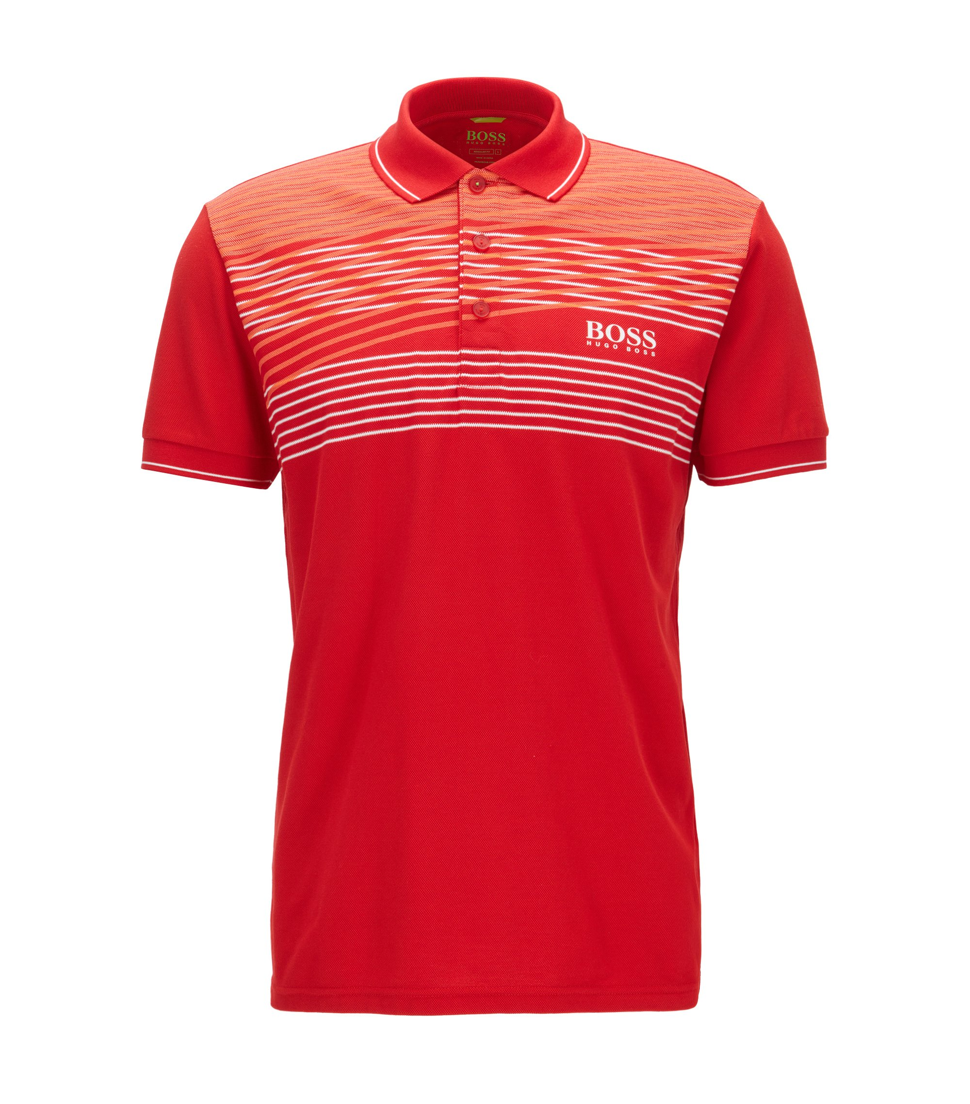Cotton Blend Polo Shirt, Slim Fit  | Paddy Pro, Red