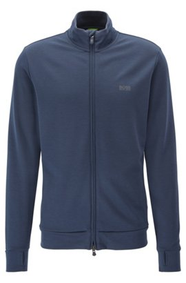 Hugo Boss Water-repellent zippered sweater asymmetric color-block XXXL Charcoal BOSS Cheap Price From China Buy Cheap New Collections Outlet Store Locations Quality 9zksH