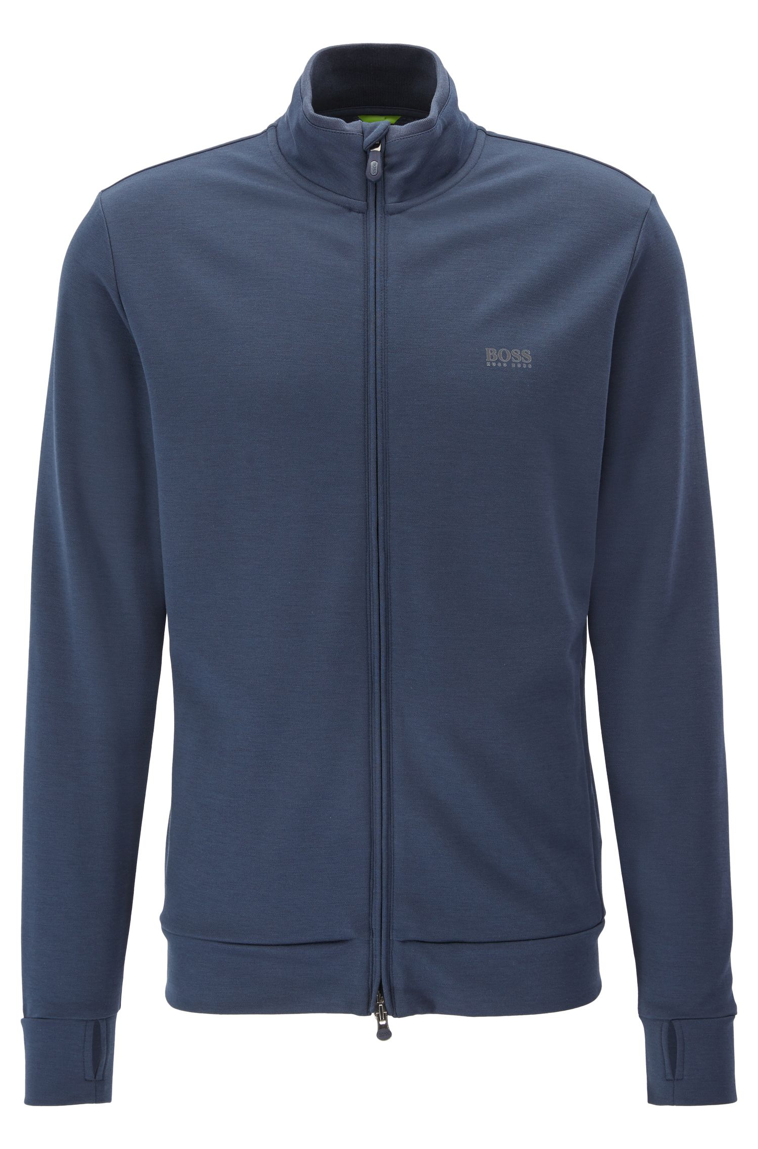 Cotton Blend Sweat Jacket | SL Tech