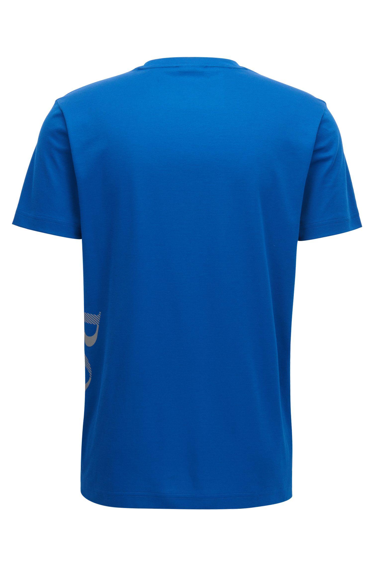 Moisture Management Cotton Blend T-Shirt | TL Tech, Blue