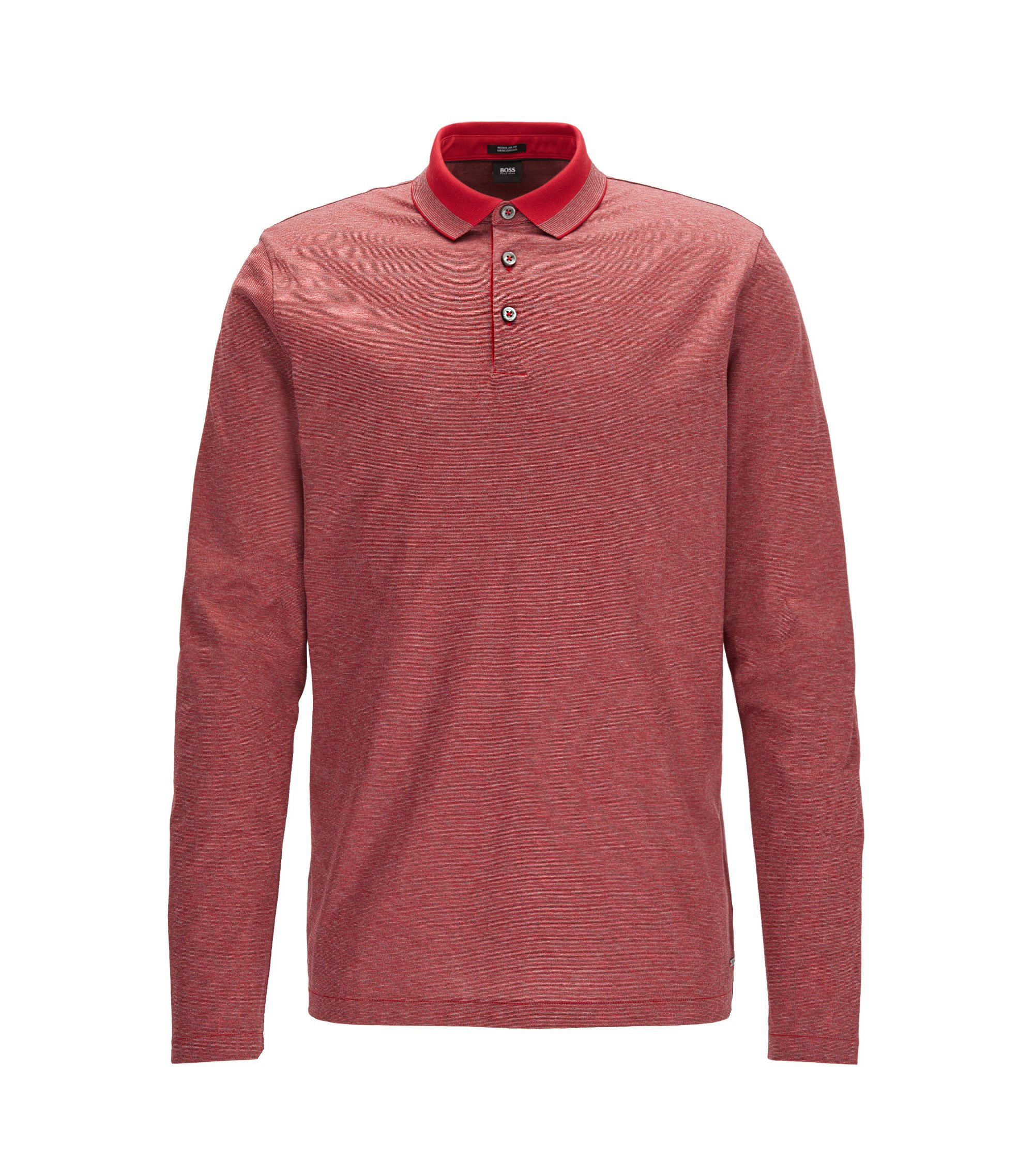 Mercerized Cotton Polo Shirt, Regular Fit | Pado, Red
