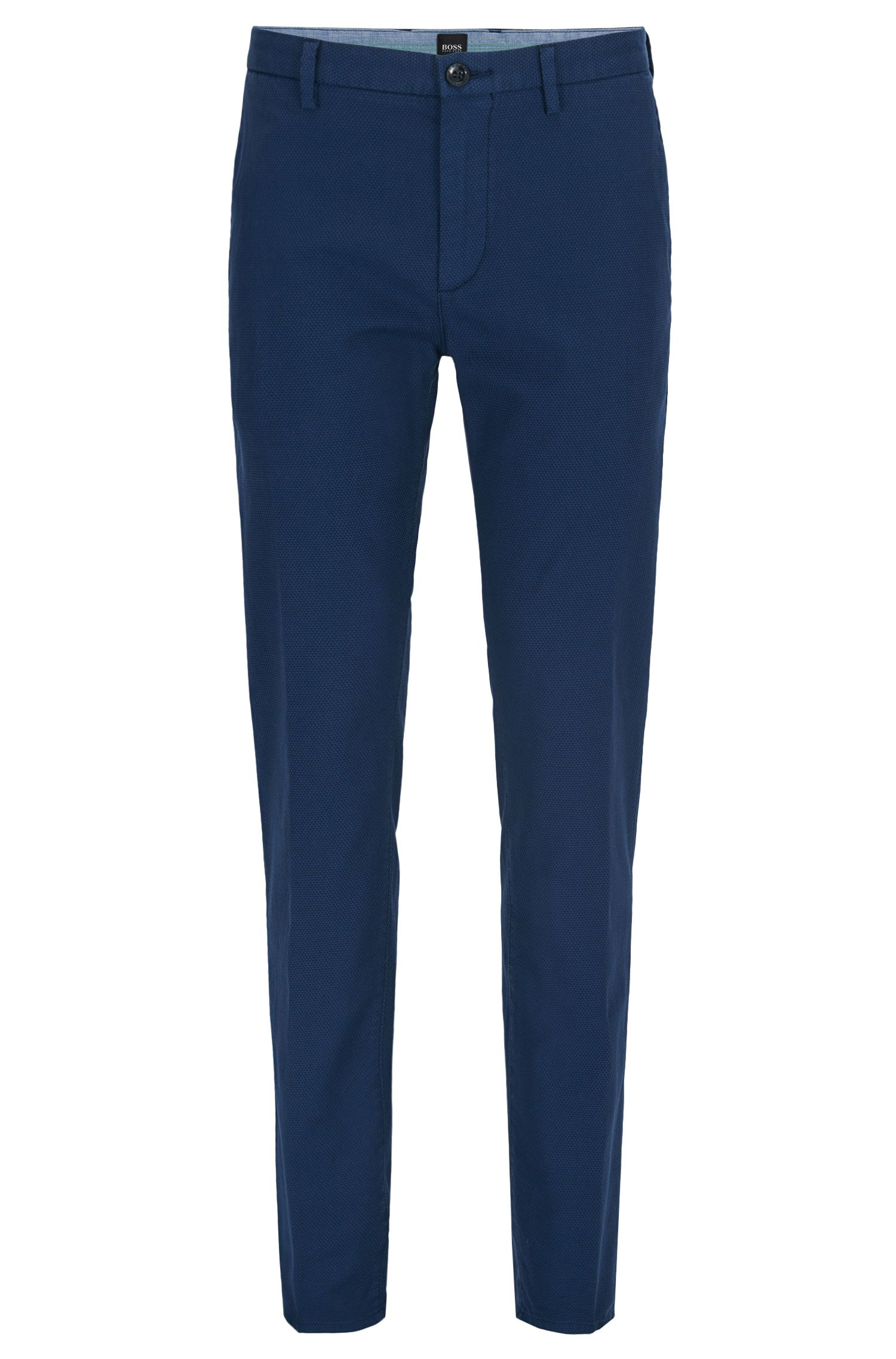 Stretch Cotton Chino Pant, Slim Fit | Rogan D, Dark Blue