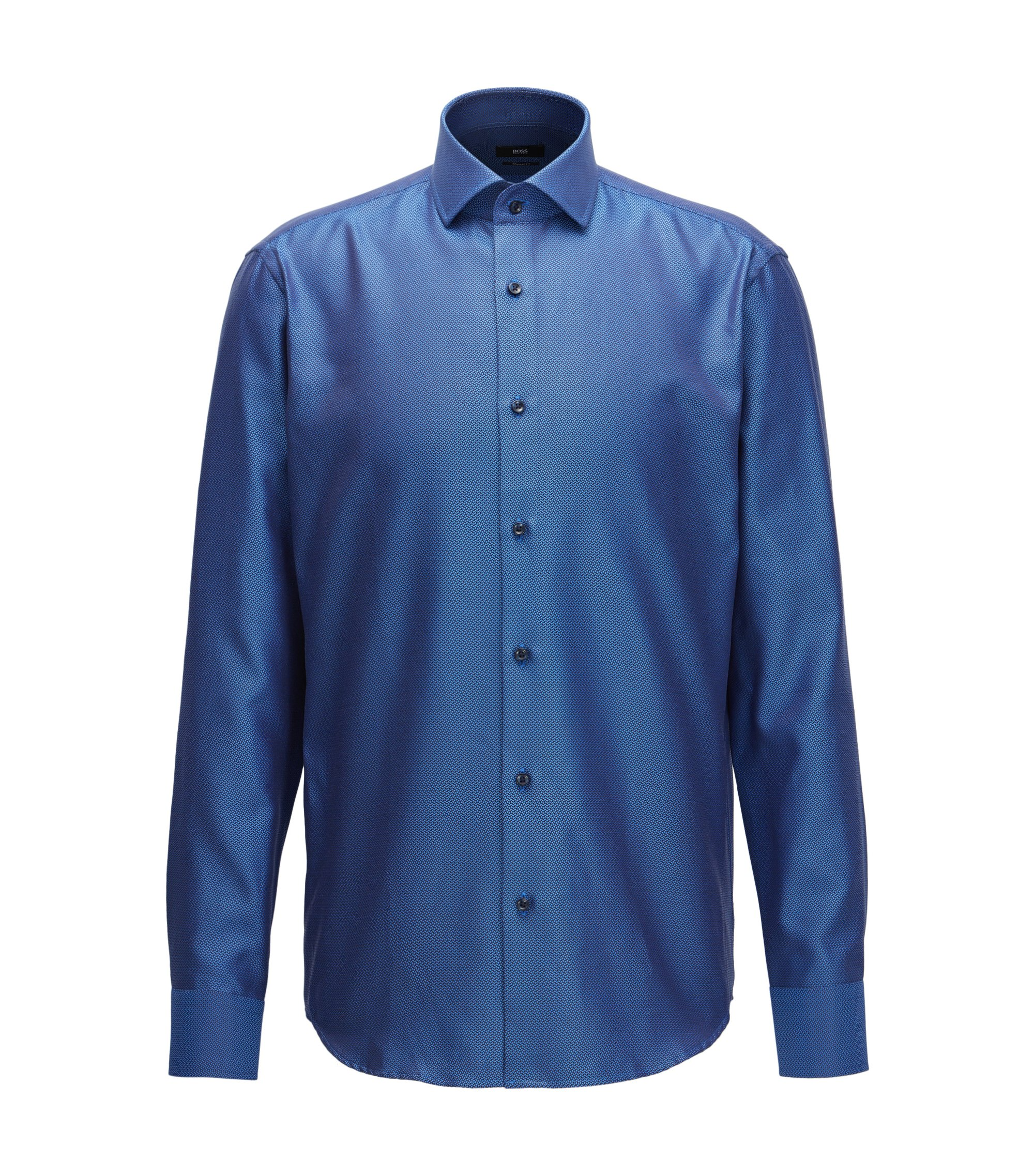 Cotton Dress Shirt, Regular Fit | Gordon, Blue
