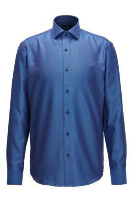 Cotton Dress Shirt, Regular Fit | Gordon, Blue