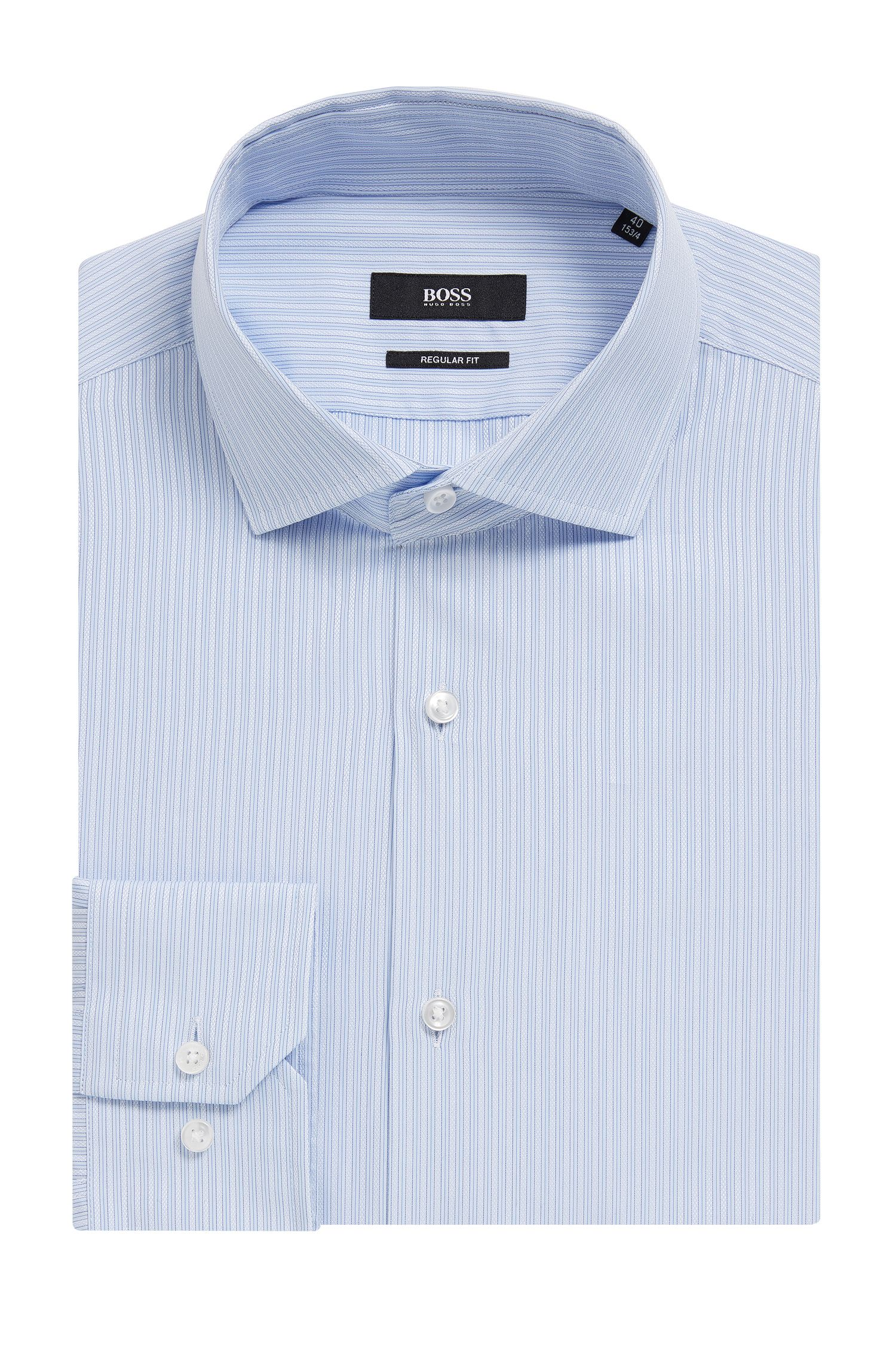 Striped Cotton Dress Shirt, Regular Fit | Gordon