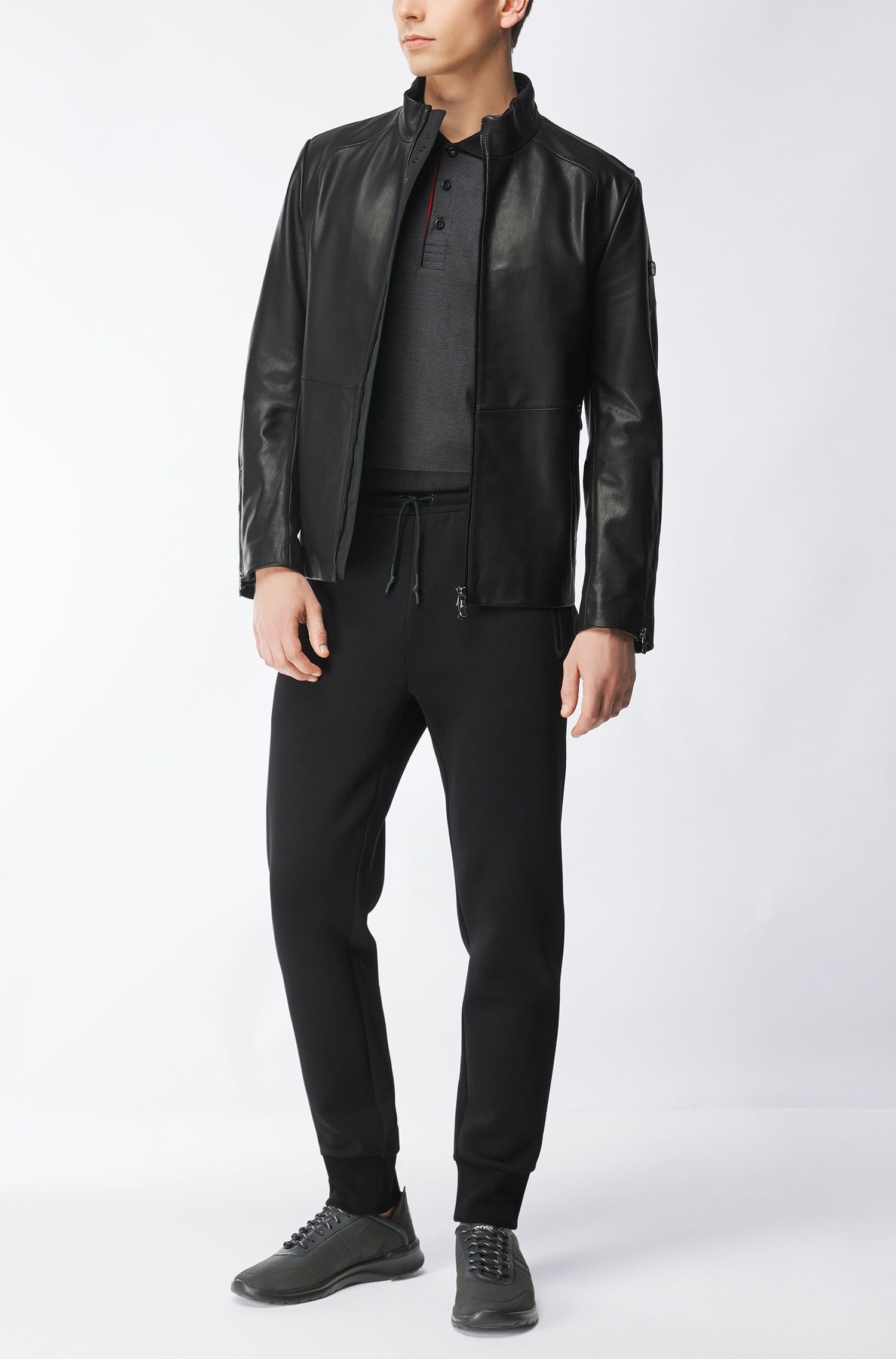 Interlock Cotton Polo Shirt, Slim Fit | Paule