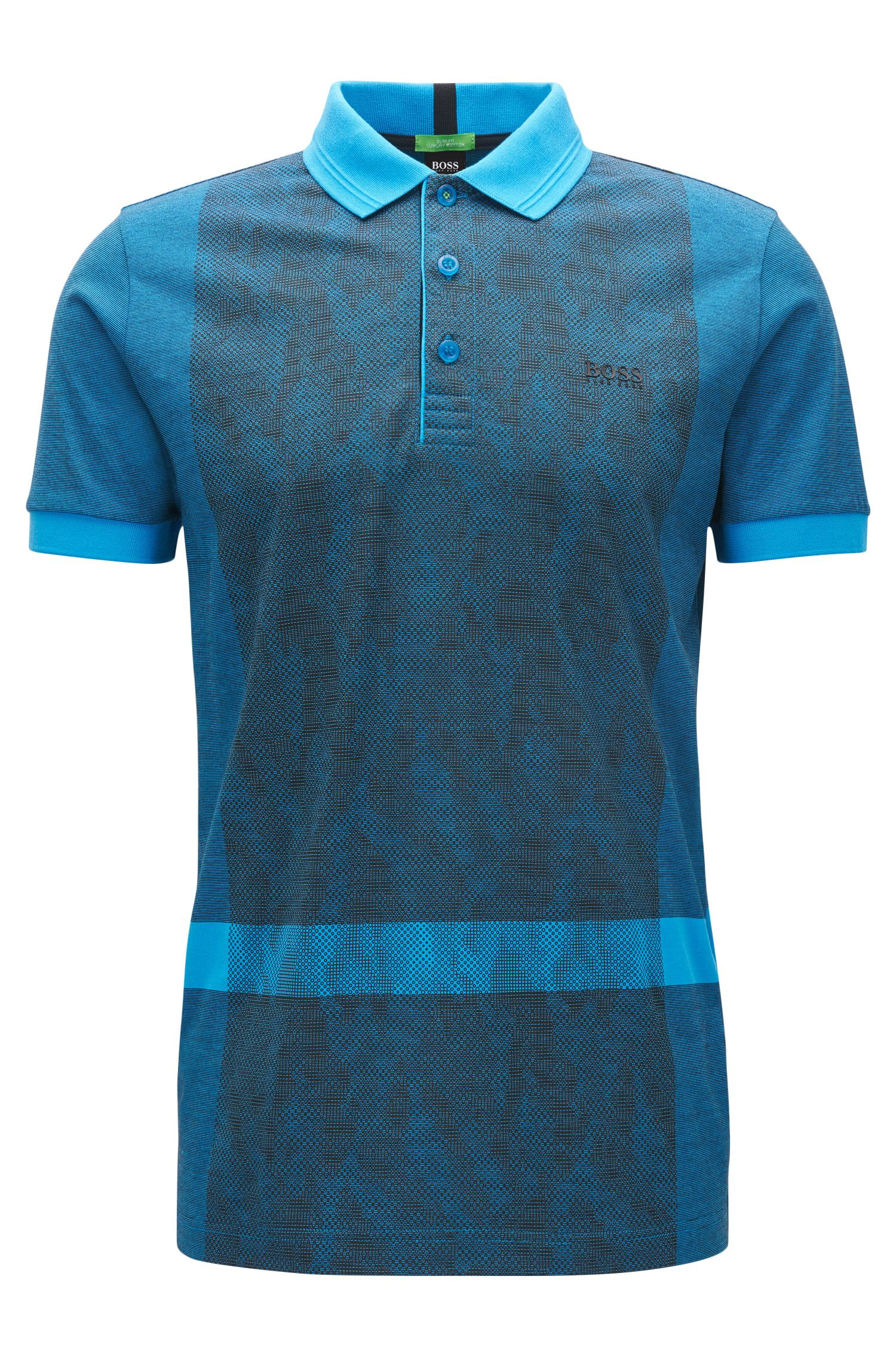 Interlock Cotton Polo Shirt, Slim Fit | Paule