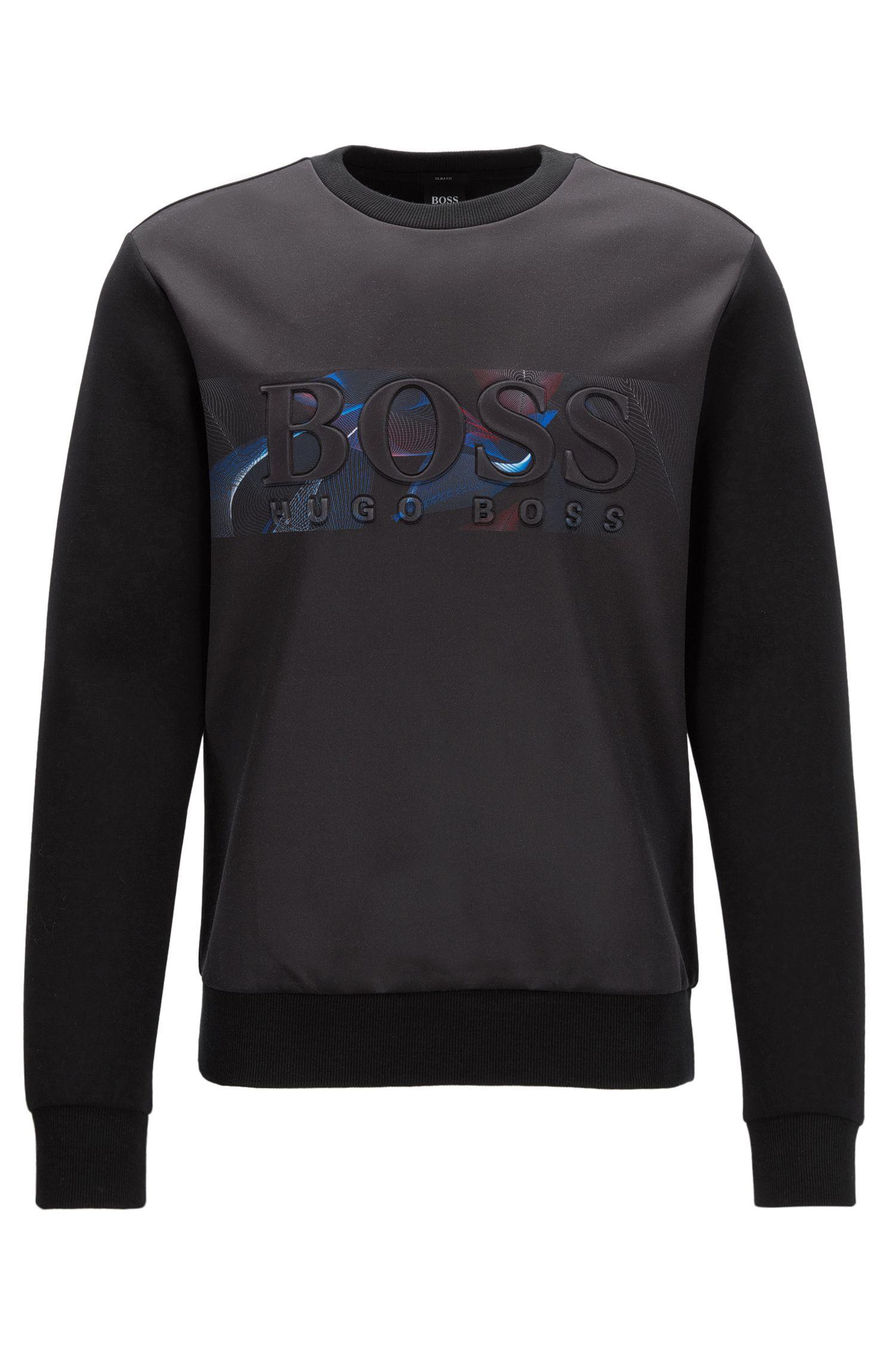 Stretch Cotton Sweater | Salbonic, Black