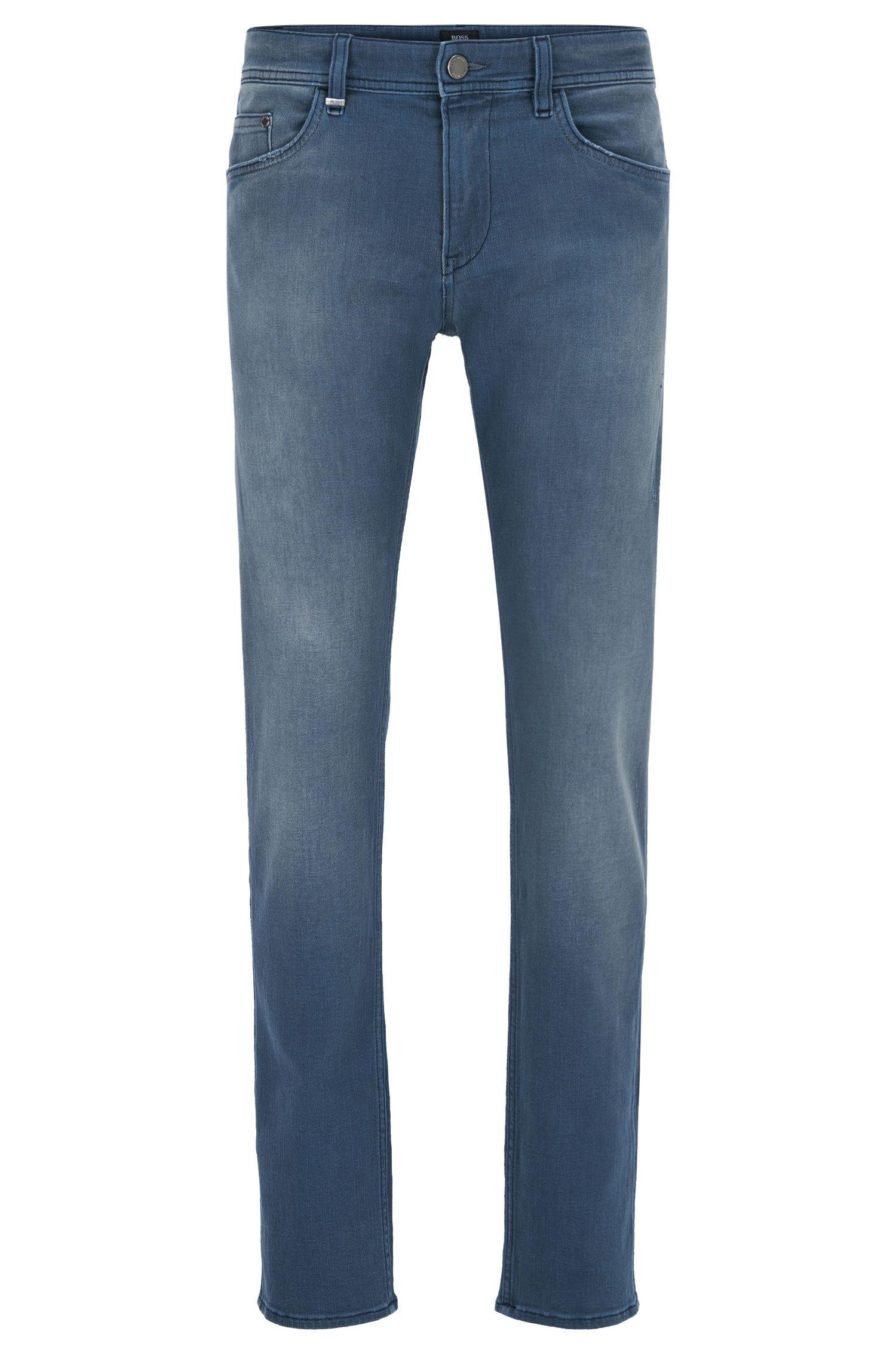 Stretch Cotton Jeans, Slim Fit | Delaware, Blue