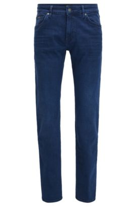 Stretch Cotton Jeans, Regular Fit | Maine, Blue