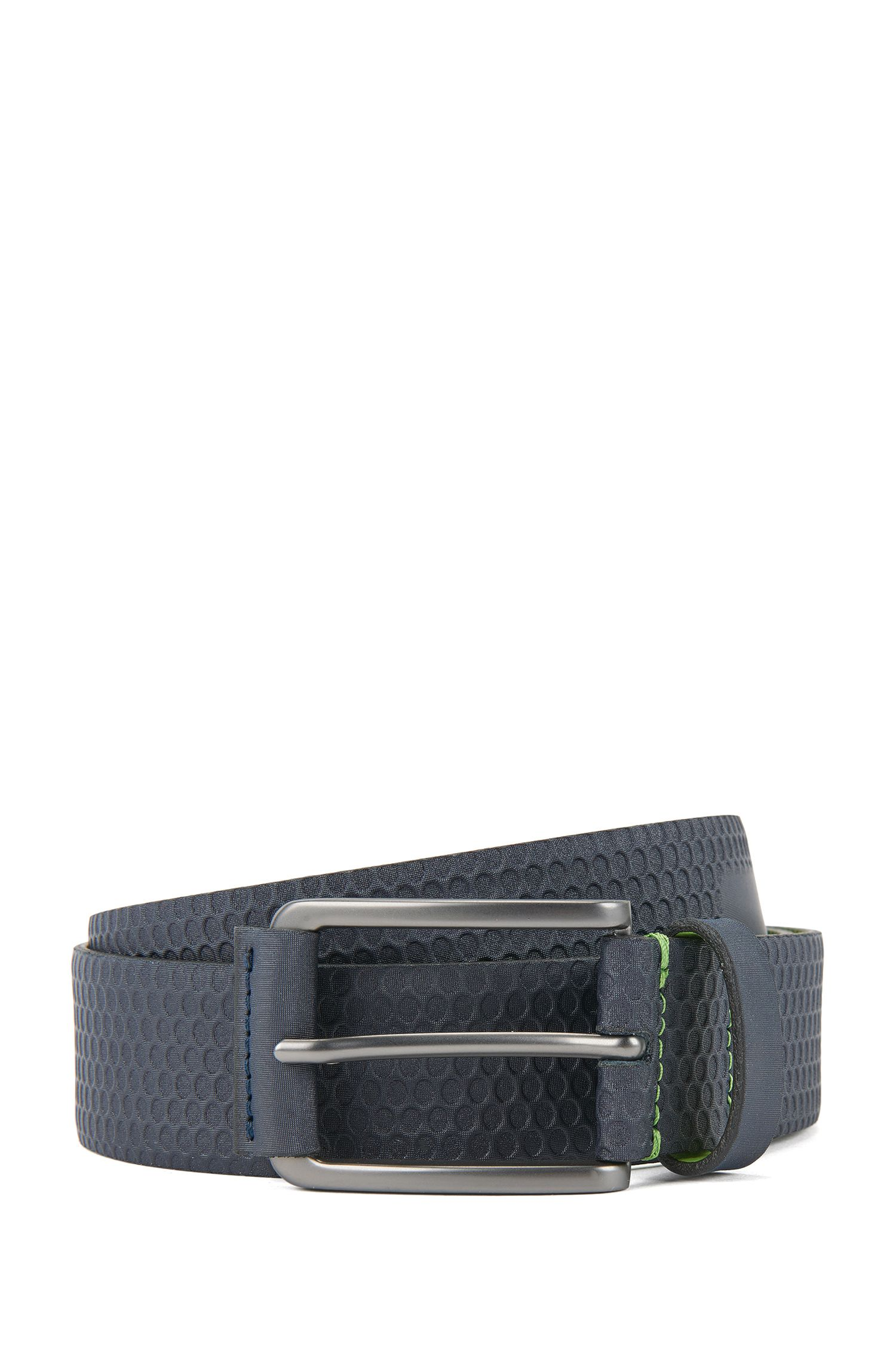 Debossed Leather Belt | Tosco Sz35