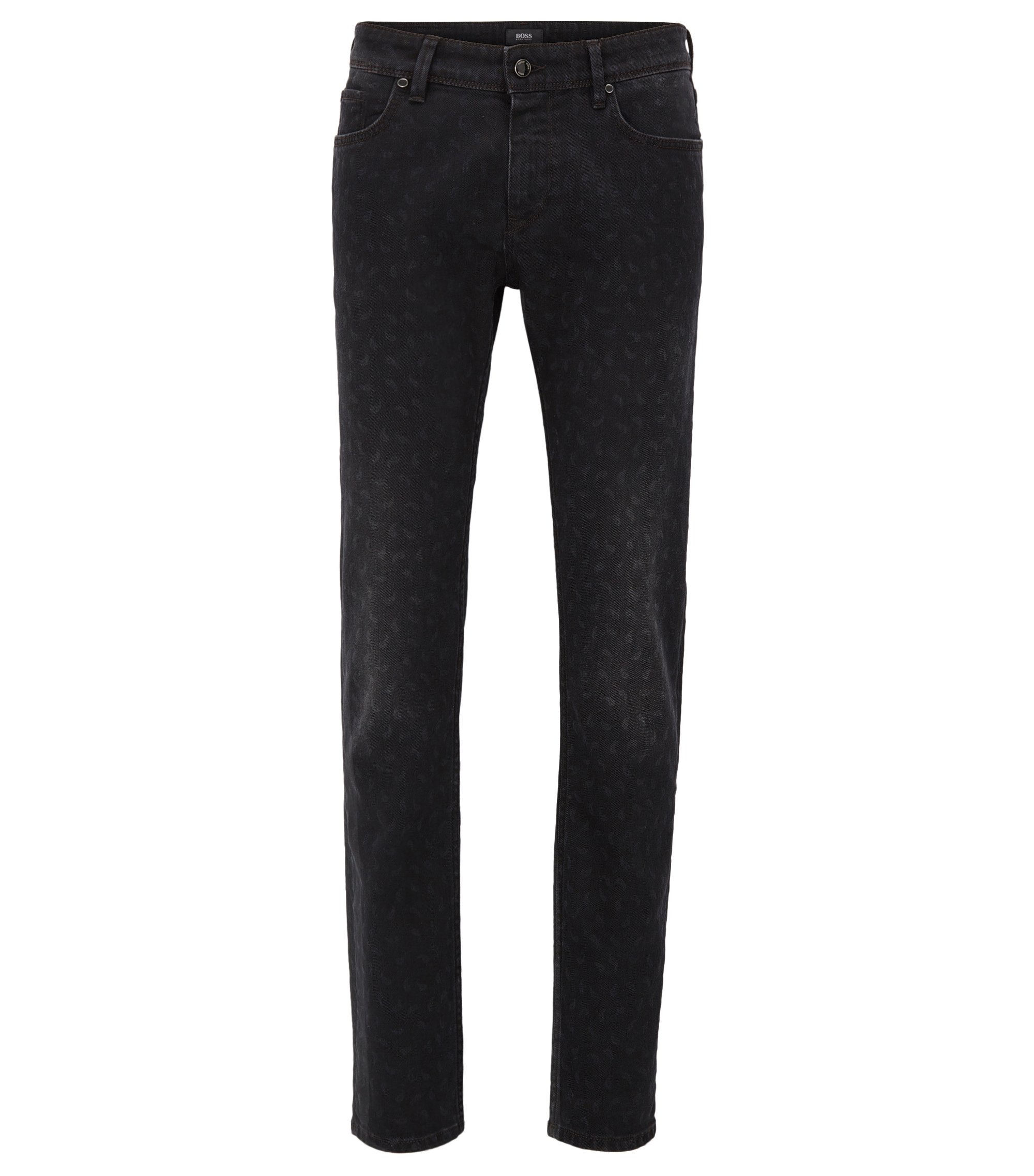 Stretch Cotton Jeans, Slim Fit | Charleston, Black