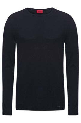 Cotton Blend Sweater | San Bastio, Dark Blue