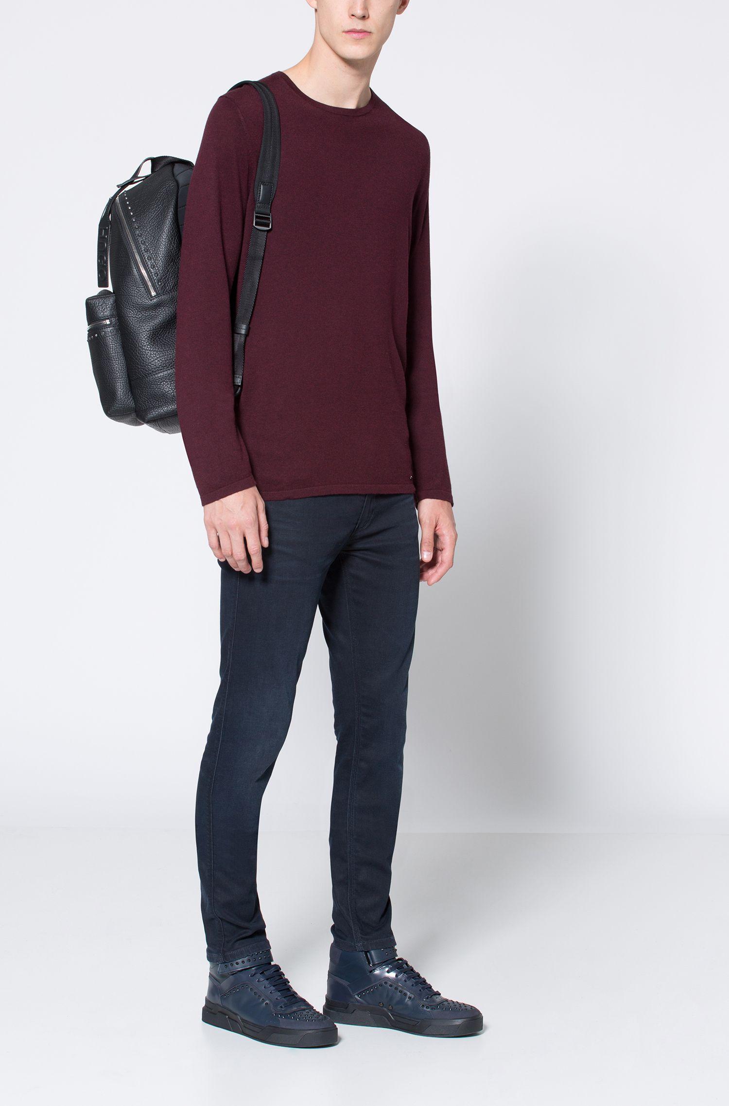 Cotton Blend Sweater | San Bastio, Dark Red