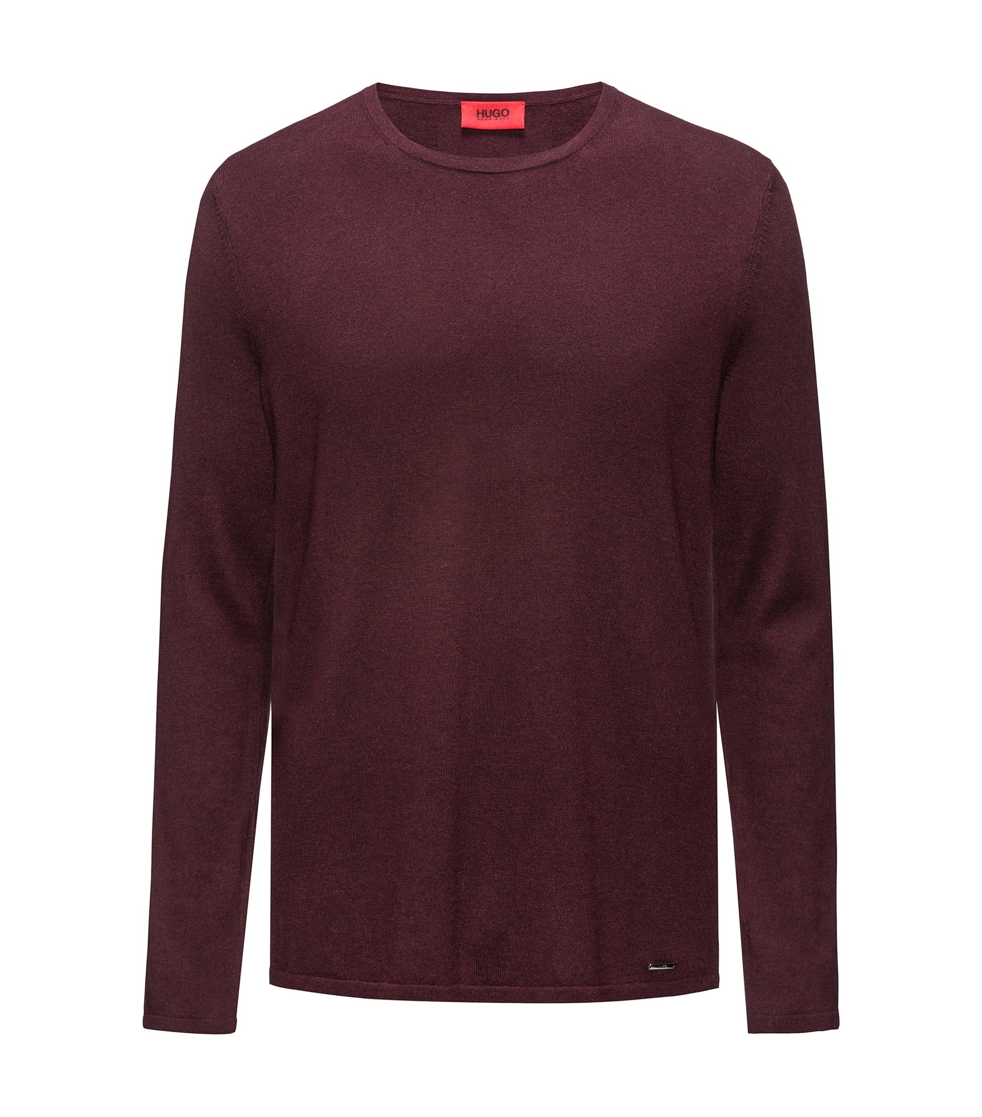 Cotton Blend Sweater | San Bastio, Dark Red