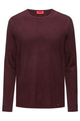 Cotton Blend Sweater   San Bastio, Dark Red