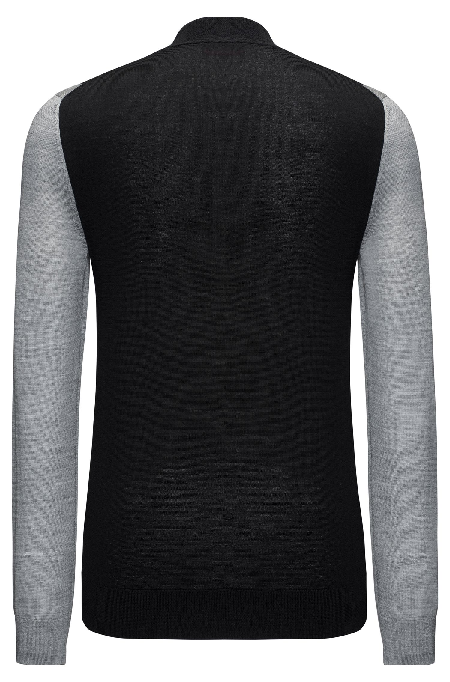 Colorblocked Stretch Virgin Wool Sweater | Seito