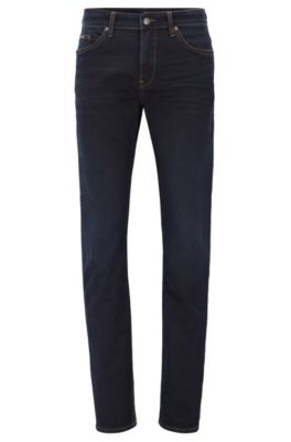 Italian Stretch Cotton Jean, Slim Fit | Delaware, Dark Blue