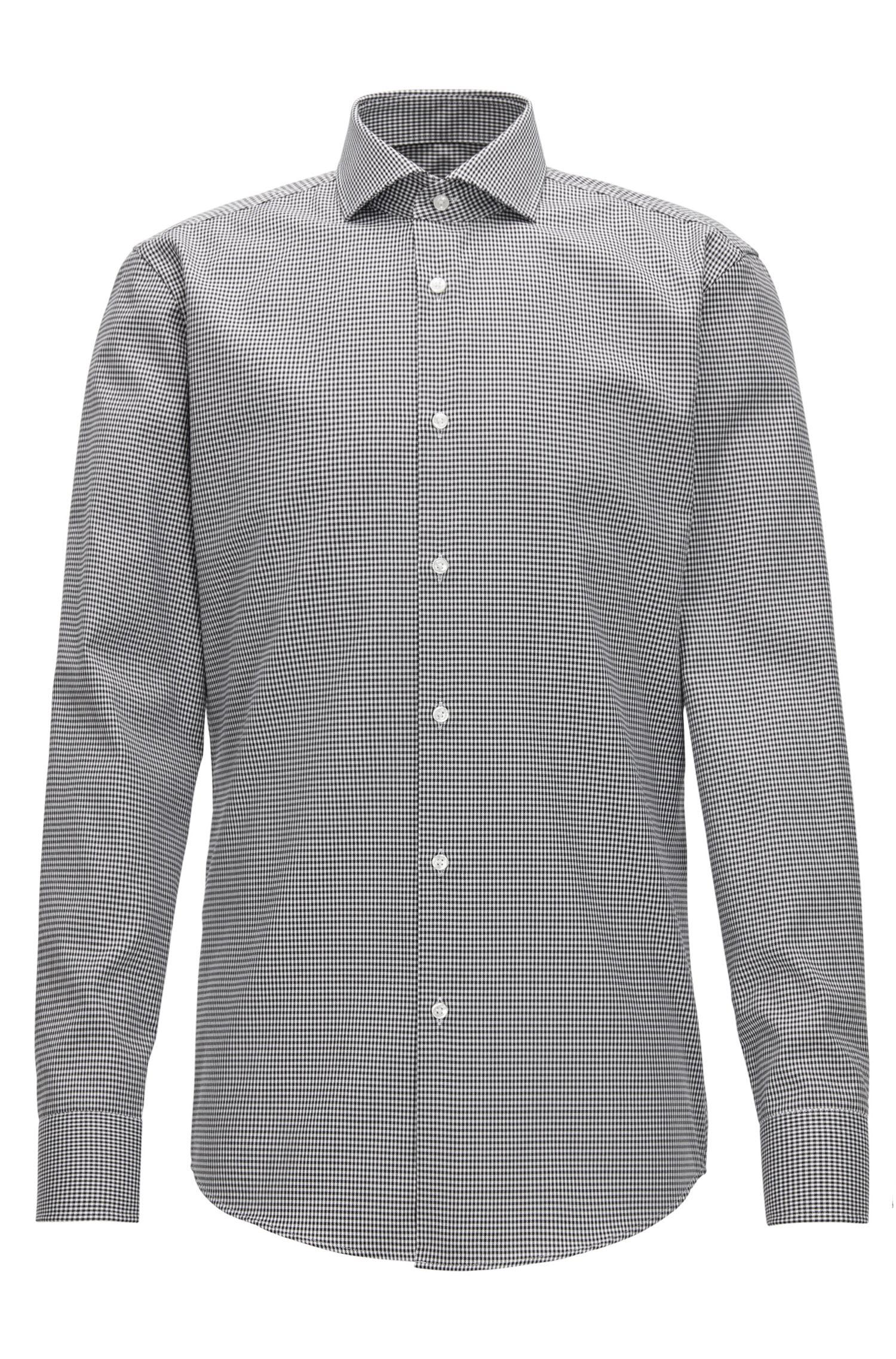 Puppytooth Cotton Dress Shirt, Slim Fit | Jason