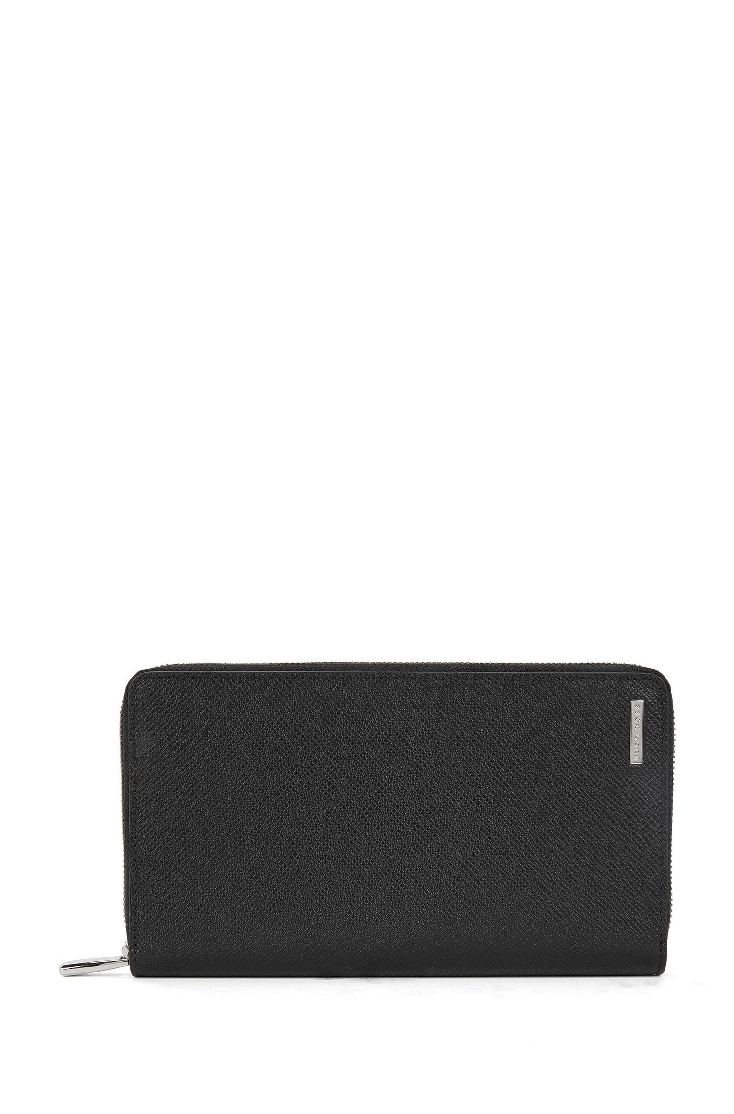 Leather Zip-Around Wallet | Signature S Zip